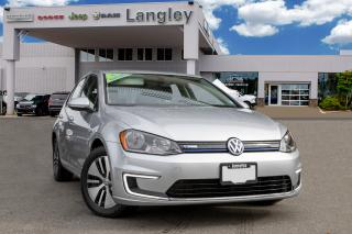 Used 2016 Volkswagen Golf e-Golf BLUETOOTH, BACK-UP CAMERA, APPLE CARPLAY AND ANDROID AUDIO, CLEAN HISTORY, HEATED SEATS AND MIRRORS for sale in Surrey, BC