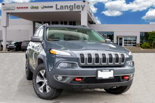 Used 2016 Jeep Cherokee Trailhawk NAVIGATION, BACK-UP CAMERA, PANORAMIC SUNROOF, APPLE CARPLAY, ANDROID AUDIO, HEATED SEATS, MIRRORS for sale in Surrey, BC