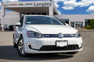 Used 2016 Volkswagen Golf e-Golf SE ELECTRIC, 144 KM RANGE, BLUETOOTH, APPLE CARPLAY, ANDROID AUDIO! for sale in Surrey, BC