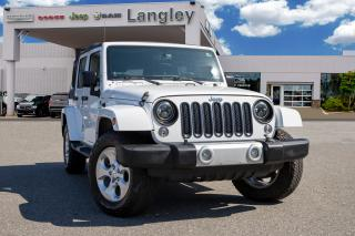 Used 2014 Jeep Wrangler Unlimited Sahara NAVIGATION, ONE OWNER, BLUETOOTH, TINTED WINDOWS, SOFT TOP! for sale in Surrey, BC