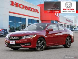 Used 2016 Honda Accord Touring HEATED SEATS | LEATHER INTERIOR | REARVIEW CAMERA WITH GUIDELINES for sale in Cambridge, ON
