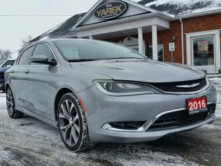 Used 2016 Chrysler 200 C Leather Heated Seats/Wheel, Remote Start, NAV, Pano Sunroof, Bluetooth for sale in Paris, ON