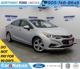 Used 2018 Chevrolet Cruze Premier | LEATHER | HTD SEATS+WHEEL | PUSH START | for sale in Brantford, ON