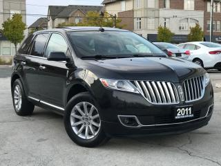 Used 2011 Lincoln MKX AWD Navi Leather Sunroof Rear Camera Accident free for sale in Burlington, ON