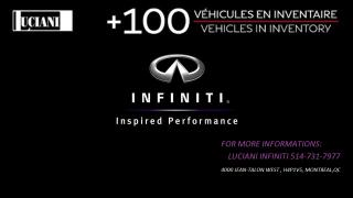 Used 2017 Infiniti Q50 Q50 3.0T !! BOSE , CAMERA , CUIR , AWD !!! for sale in Montréal, QC