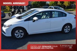 Used 2015 Honda Civic LX ***kilométrage certifié *** for sale in Longueuil, QC