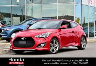 Used 2014 Hyundai Veloster DEAL PENDING Turbo TRES BAS KM LOW KM 1.6T AUTO CUIR TOIT PANORAMIQUE MAGS NAVI for sale in Lachine, QC