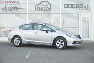 Used 2015 Honda Civic LX ***GARANTIE GLOBALE JUSQU EN MAI 2020 for sale in Québec, QC