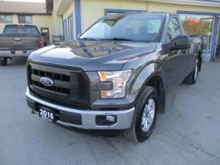 Used 2016 Ford F-150 LIKE NEW XL MODEL 3 PASSENGER 3.5L - V6.. 4X4 SYSTEM.. REGULAR CAB.. 8-FOOT BOX.. TOW SUPPORT.. BLUETOOTH.. KEYLESS ENTRY.. for sale in Bradford, ON