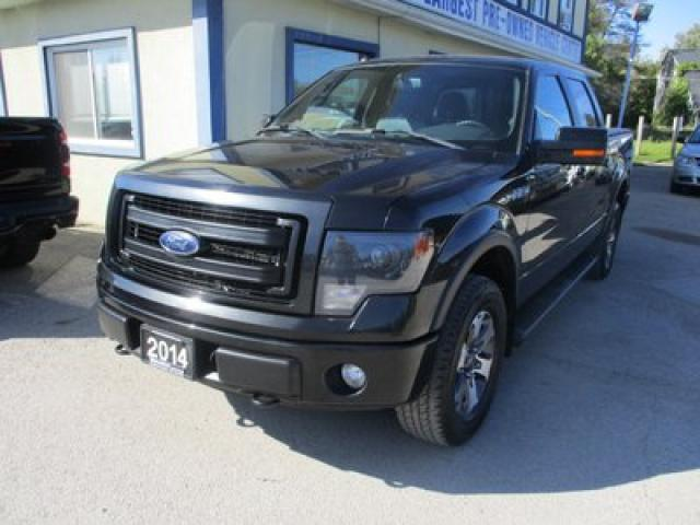 2014 Ford F-150 LOADED FX-4 EDITION 5 PASSENGER 5.0L - V8.. 4X4.. CREW.. SHORTY.. NAVIGATION.. LEATHER.. HEATED/AC SEATS.. BACK-UP CAMERA.. BLUETOOTH..