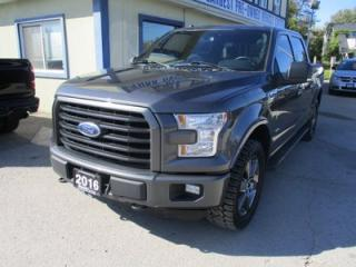 Used 2016 Ford F-150 LOADED XLT EDITION 5 PASSENGER 2.7L - ECO-BOOST.. 4X4.. CREW.. SHORTY.. NAVIGATION.. LEATHER.. HEATED SEATS.. BACK-UP CAMERA.. PANORAMIC SUNROOF.. for sale in Bradford, ON
