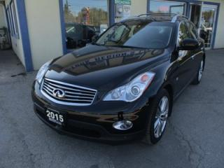 Used 2015 Infiniti QX50 LOADED ALL-WHEEL DRIVE 5 PASSENGER 5 PASSENGER 3.7L - V6.. NAVIGATION.. LEATHER.. HEATED SEATS.. BACK-UP CAMERA.. POWER SUNROOF.. for sale in Bradford, ON