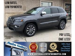 Used 2018 Jeep Grand Cherokee Limited *4x4/Navi/Btooth/Htd Lthr/Pano Roof/V6 for sale in Winnipeg, MB