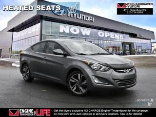 Used 2016 Hyundai Elantra GLS  - Sunroof -  Heated Seats - $95 B/W for sale in Nepean, ON
