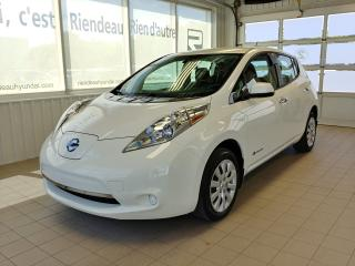 Used 2016 Nissan Leaf S + CLIMATISEUR + CAMÉRA DE RECUL + BLUETOOTH for sale in Ste-Julie, QC