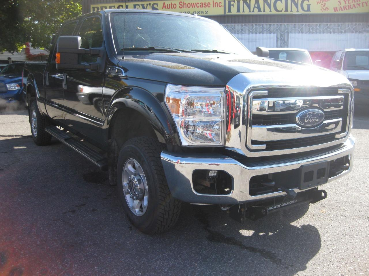 2015 Ford F-250 XLT 6.2L V8 4x4 Crew Super Duty with Plow