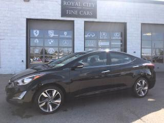 Used 2014 Hyundai Elantra Limited w/Navi Leather Sunroof Heated Seats for sale in Guelph, ON