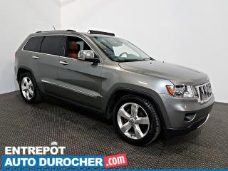 Used 2012 Jeep Grand Cherokee Overland AWD NAVIGATION - Toit Ouvrant - A/C -Cuir for sale in Laval, QC
