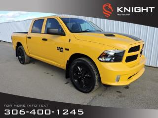 New 2019 RAM 1500 Classic Express Blackout Crew Cab 4x4 | Back-up Camera | Stinger Yellow Sport Package | 121L Fuel Tank for sale in Weyburn, SK
