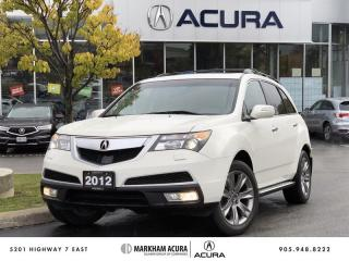 Used 2012 Acura MDX Elite 6sp at SH-AWD, 3.7L V6 300HP, Navigation for sale in Markham, ON