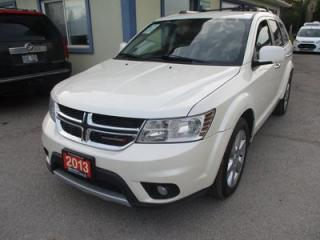 Used 2013 Dodge Journey ALL-WHEEL DRIVE R/T EDITION 5 PASSENGER 3.6L - V6.. NAVIGATION.. LEATHER.. HEATED SEATS.. DVD PLAYER.. BACK-UP CAMERA.. BLUETOOTH.. for sale in Bradford, ON