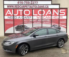 Used 2016 Chrysler 200 S-ALL CREDIT ACCEPTED for sale in Scarborough, ON