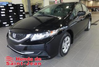 Used 2015 Honda Civic 4 portes, boîte manuelle, LX for sale in St-Jean-Sur-Richelieu, QC