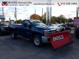 Used 2017 Chevrolet Silverado 2500 HD LT  BOSS PLOW!!! STILL UNDER WARRANTY NOT COMMERCIALLY USED ! for sale in Kemptville, ON