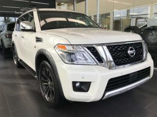 Used 2017 Nissan Armada Platinum Edition 4WD, ACCIDENT FREE, POWER HEATED/VENTED LEATHER SEATS,DVD ENTERTAINMENT SYSTEM, ACTIVE CRUISE CONTROL for sale in Edmonton, AB