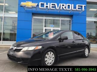 Used 2010 Honda Civic BAS KILOMETRAGE for sale in Ste-Marie, QC