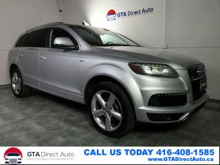 Used 2011 Audi Q7 3.0L TDI S-Line AWD Nav Pano 7-Pass Cam Certified for sale in Toronto, ON