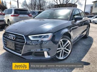 Used 2018 Audi A3 2.0T Technik LEATHER  ROOF  NAVI  BLIS  B & O for sale in Ottawa, ON