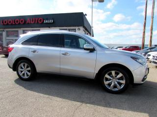 Used 2015 Acura MDX 7 Passenger SH-AWD Advance Package Navi DVD Certified for sale in Milton, ON