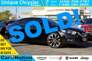 Used 2016 Nissan Maxima SR| NAV| ASCOT LEATHER| SPORT SUSPENSION & MORE for sale in Burlington, ON