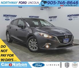Used 2014 Mazda MAZDA3 Sport GS | HTD SEATS | PUSH START | SUNROOF | 6 SPEED | for sale in Brantford, ON