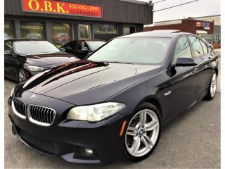 Used 2016 BMW 5 Series M PACKAGE-AWD-NAVIGATION-CAM RECUL-TOIT OUVRANT for sale in Laval, QC