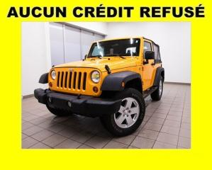 Used 2012 Jeep Wrangler SPORT 4X4 *PROGRAMME 100% APPROUVÉ* for sale in Mirabel, QC