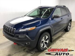 Used 2018 Jeep Cherokee Trailhawk V6 4x4 Cuir/Tissus MAGS Caméra de recul for sale in Shawinigan, QC