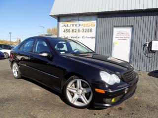 Used 2005 Mercedes-Benz C230 ***BAS KILOMETRAGE,KOMPRESSOR,CUIR,AUTO* for sale in Longueuil, QC