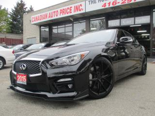 Used 2015 Infiniti Q50 SPORT-AWD-NAVI-LTHER-CAM-ROOF-BTOOT-HEATED for sale in Scarborough, ON