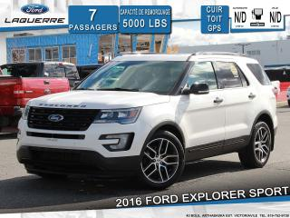 Used 2016 Ford Explorer SPORT AWD**CUIR*TOIT*GPS*CAMERA*BLUETOOTH*A/C** for sale in Victoriaville, QC