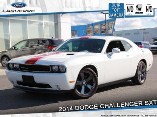 Used 2014 Dodge Challenger SXT**RALLYE REDLINE*CUIR*TOIT*CAMERA*BLUETOOTH** for sale in Victoriaville, QC