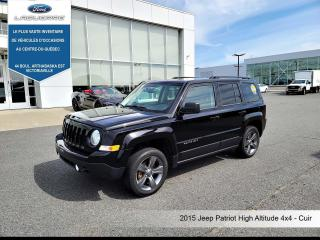 Used 2015 Jeep Patriot HIGH ALTITUDE ** 4X4*CUIR*BLUETOOTH*CRUISE*A/C** for sale in Victoriaville, QC