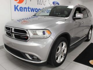 Used 2015 Dodge Durango Limited AWD with a sunroof, heated power leather seats, heated leather rear seats, rear DVD entertainment system for sale in Edmonton, AB
