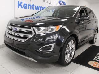 Used 2015 Ford Edge Titanium AWD ecoboost, NAV, sunroof, heated/cooled power leather seats, heated rear seats, power liftgate, back up cam, keyless entry for sale in Edmonton, AB