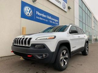 Used 2016 Jeep Cherokee TRAILHAWK 4WD - LEATHER / HEATED SEATS + WHEEL for sale in Edmonton, AB