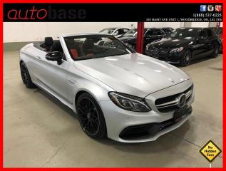 Used 2017 Mercedes-Benz C-Class C63S AMG CONVERTIBLE AMG NIGHT DISTRONIC PREMIUM CLEAN CARFAX! for sale in Vaughan, ON