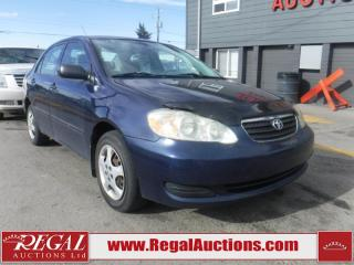 Used 2006 Toyota Corolla CE 4D Sedan for sale in Calgary, AB