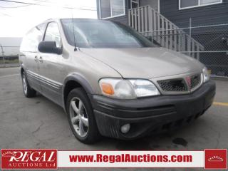 Used 2002 Pontiac MONTANA  4D EXT WAGON FWD for sale in Calgary, AB