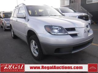 Used 2003 Mitsubishi Outlander 4D Utility FWD for sale in Calgary, AB
